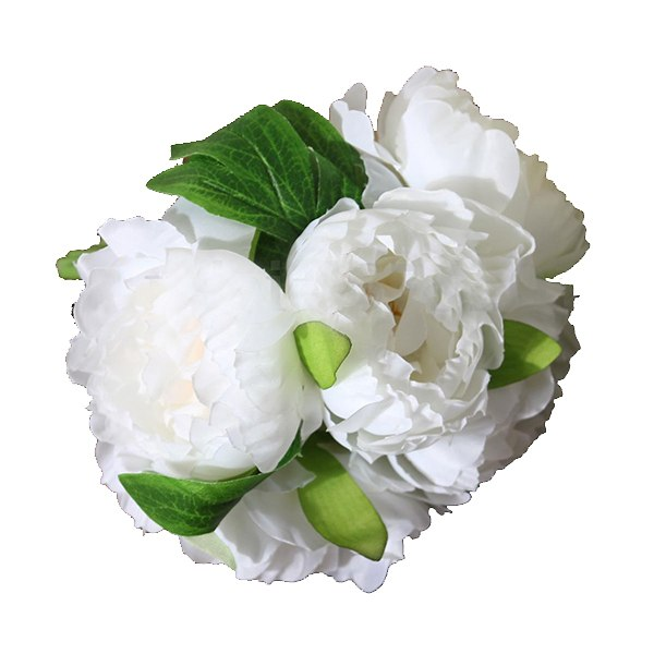 Hot Sale 1 Bouquet 5 Head Artificial Peony Silk Cloth Flower Home Wedding Party Garden Craft Decor