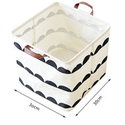Imixlot Storage Basket Fabric Cotton Linen Desktop Storage Basket Bags Foldable Toy Container Organizer Box Laundry Basket