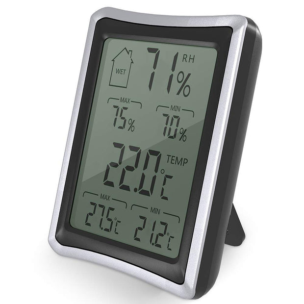 Indoor Humidity Monitor Thermometer Digital Hygrometer Monitor With Stand And Large Lcd Display Works In Celsius And Fahrenhei