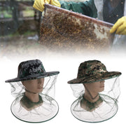 Insect For Outdoor Fishing Hiking Bee Hat Beekeeping Net Head Face Protector Cap