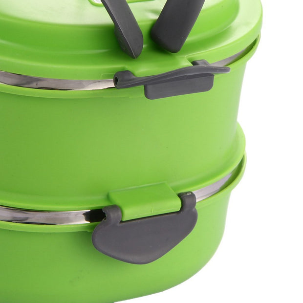 Insulated Tableware Set Stainless Steel Food Storage Container Thermo Server Essentials Thermal Double Layer Green