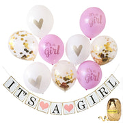 It's A Boy Girl Baby Newborn Shower Banner Baby Shower Party Decorations Confetti Balloon Set For Gender Reveal Party Decoratio