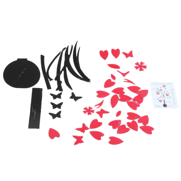 JEYL DIY Flower Vase Wall Stickers, Crystal Plastic 3d Wall Stereo Sticker, Decalcomania For Decoration Of Home
