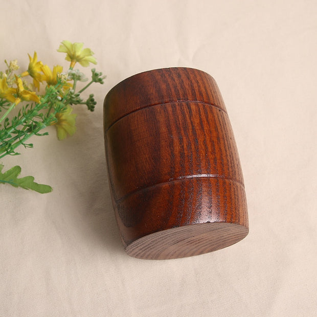 Japanese Style Classical Handles Wooden Mugs Milk Water Beer Cups Natural Wood Cups Jujube Wood Tea Cups Chinese Wood Drink Cups