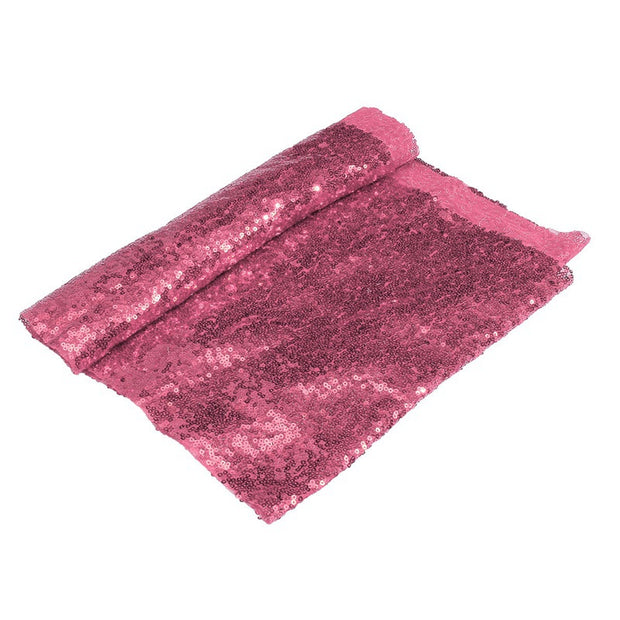 KiWarm Beautiful Pink Sequin Satin Fabric For Flag Tablecloth Table Runner Decorative Cloth DIY Clothes Crafts Home Decor