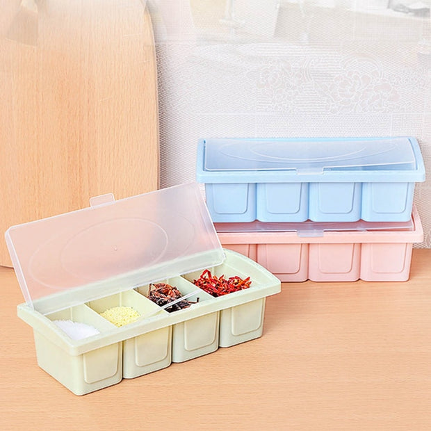 Kitchen Spice Box Eco-friendly Plastic Kitchen Seasoning Box Plastic Seasoning Box Sugar Pepper Salt Cans Herb Spice Containers