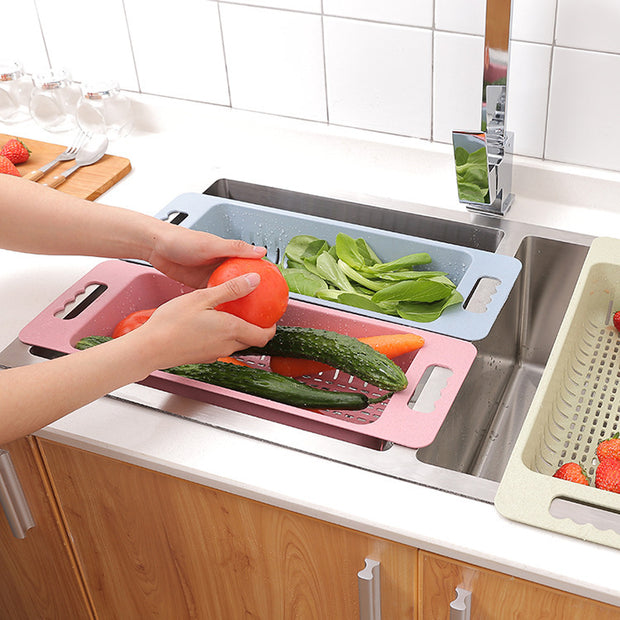 Kitchen Accessories Water Plastic Fruits Vegetables Waterlogging Basket Pool Wash Bowls Waterlogging
