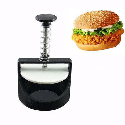 Kitchen Gadgets Burger Pressure Kitchen Accessories DIY Mold Manual Plastic Hamburg Pressing Machine Meat Maker JHWJ002