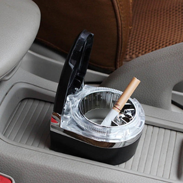 LED Light Storage Cup Cigarette Cigar Ash Tray Portable Smoke Cup Holder Car Ashtray Smoke Ash Cylinder Auto Accessories