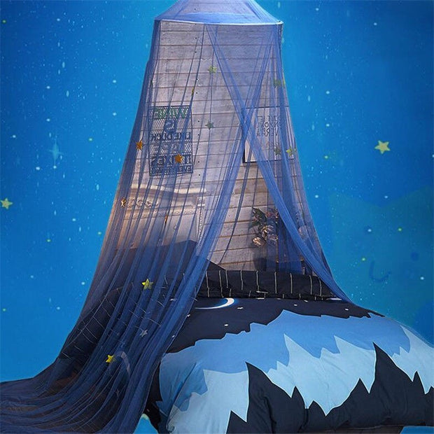 Lace Cotton Large Tent Hanging Kids Decoration Bedding Round Dome Bed Canopy Bedcover Curtain Home Crib Hung Playing Game