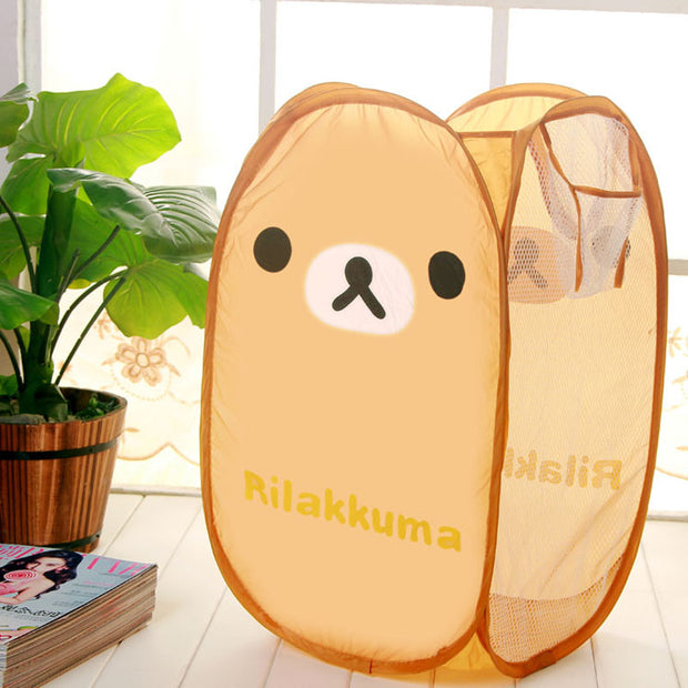 Large Number Of Dirty Clothes Storage Basket Wire Folding Laundry Laundry Basket Basket Toy Box Bathroom Barrel Bags Kids