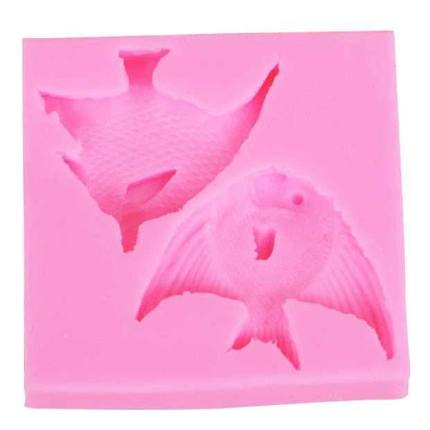 M2010 3D Fish Silicone Mold Fondant Cake Decorating Mould Kitchen Accessories Soap Molds Baking Mold