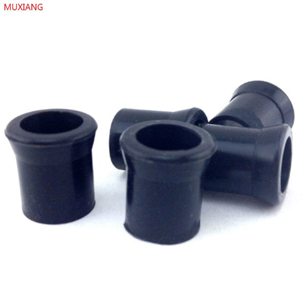 MUXIANG 50 Pcs/lot Good Quality Black Pipe Tools Silicone Smoking Tobacco Pipe Protective Bit Rubber Mouthpiece Tip Fg0002