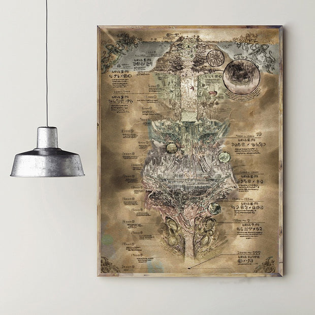 Made in Abyss MAP Anime wall hanging tapestry Art room Home Decor wall Poster