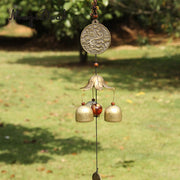 MagiDeal Chinese Fish Lotus Pond Metal Bell Lucky Feng Shui Hanging Decoration Charm Wind Chime Home Decor