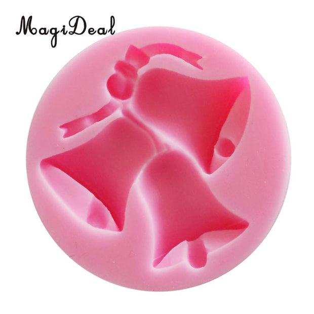 MagiDeal Christmas Bells Silicone Mold, Candy, Fondant, Cake Decorating Baking Mould, Polymer Clay, BPA Free, Microwave, Safe