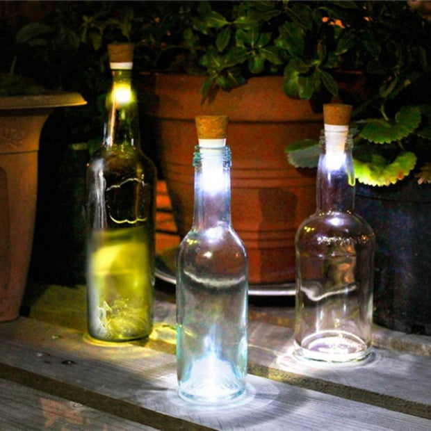 Magic 7 Color Rechargeable Wine Bottle Stopper USB Night Light Festive Lamp Romantic Atmosphere Light Creative Cork Stopper