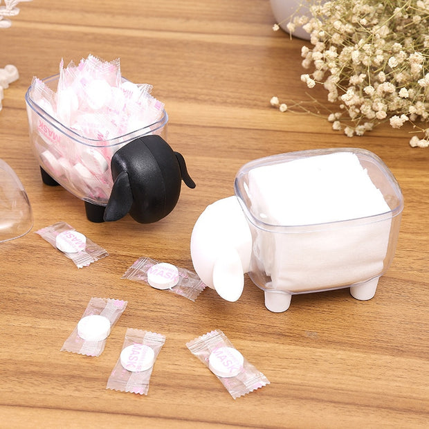 Makeup Organizer For Cosmetics Plastic Storage Box Container Make Up Organizer Office Dental Floss Toothpick Holder Cotton Swab