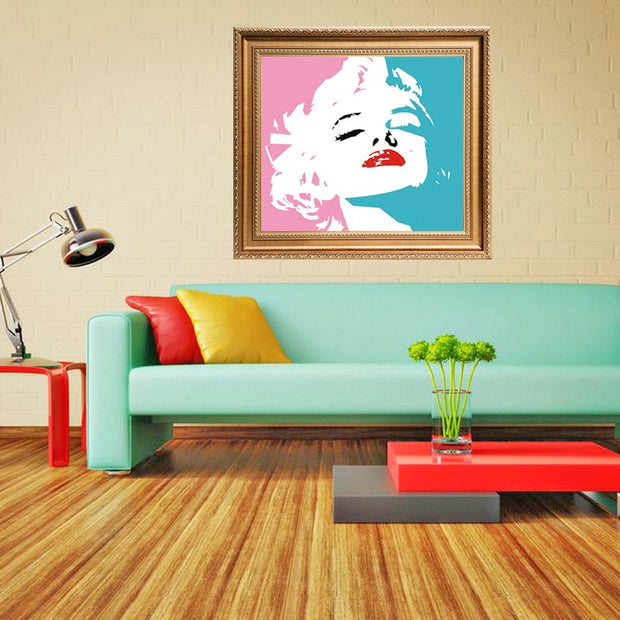Marilyn Monroe Personality Poster 5D DIY Diamond Painting Full Square Diamond Embroidery Mosaic Crystals Painting Decor Home