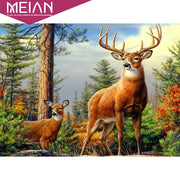 "Meian 5D DIY Full Diamond Painting Sale Diamond Embroidery""Forest Deer""Cross Stitch Home Decor Rhinestone Daimand Mosaic Picture"