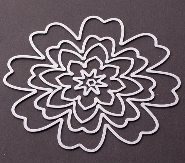 Metal Cutting Flower Die Cut Lace Circle Rectangle Oval Frame Background Craft Dies For Card Making Scrapbooking