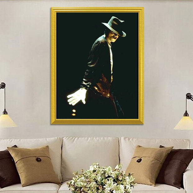 Michael Jackson Classic Action 5D DIY Diamond Painting Full Square Diamond Embroidery Rhinestones Mosaic Painting Home Decor