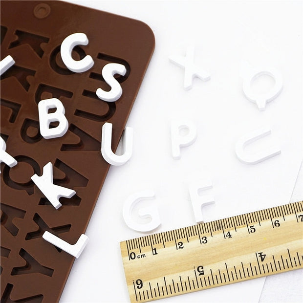 Mini Letter Silicone Mold Aroma Gypsum Plaster Crafts Silicon Mould English Alphabet DIY Chocolate Cake Molds