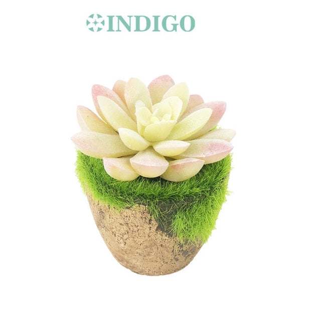 Mini Pink Succulent Plant Pottery Bonsai Artificial Flower Christmas Gift Office Table Decoration Bonsai Free Shipping