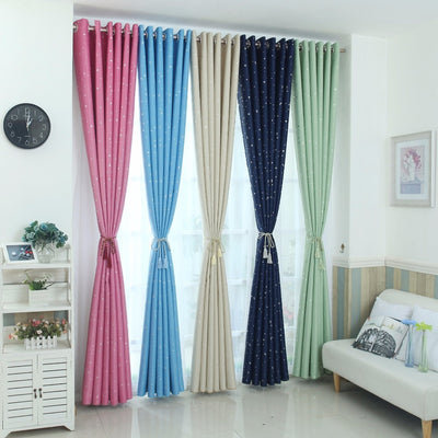 Modern Stars Blackout Curtains Kids Bedroom Curtain For Living Room Elegent Bule Drapes Cortinas Para Sala