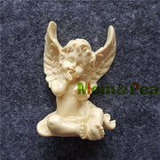 Mom&Pea 1463 Free Shipping Angel Mold Cake Decoration Fondant Cake 3D Mold Soap Mold Food Grade