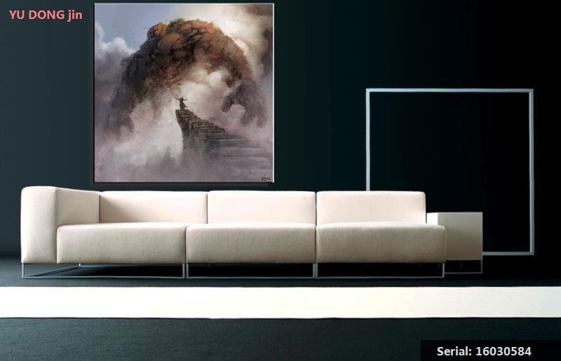 Monsters Stairs Still Life Abstract Oil Painting Drawing Art Spray Unframed Canvas Airbrush Iron Wax Airbrush Straw16030584