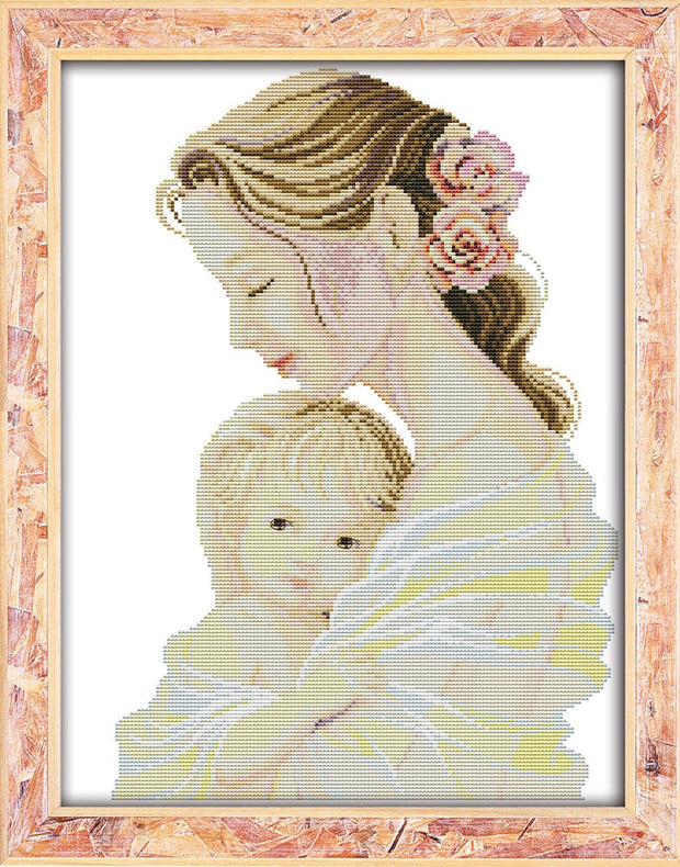 Mother's Tender Arms Portrait Needlework,DMC Cross Stitch,Sets For Embroidery Kits,Patterns Counted Cross-Stitching,DIY Handmade