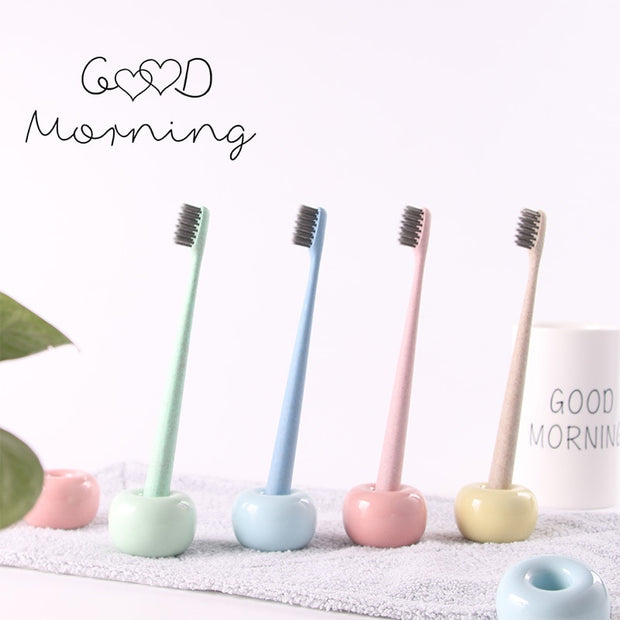 Multifunctional Ceramic Toothbrush Holder Pen Stand Desktop Organizer