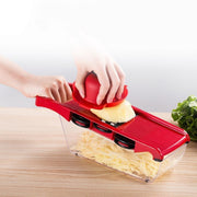 Multifunctional Kitchen Slicer Vegetable Cutter With Stainless Steel Blade+Knife Holder+ Hand Guard Kitchen Tool