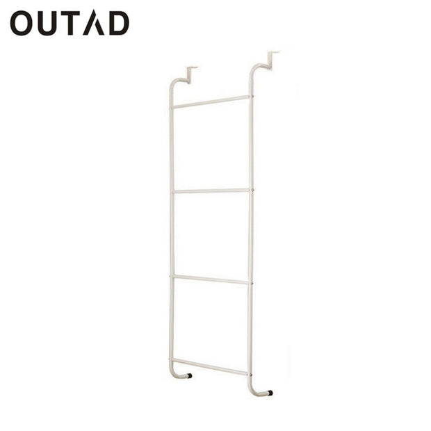 Multifunctional Metal 4-Layer Towel Racks Bathroom Storage Shelves Trapezoidal Storage Holder Nail-free Hanging Over Door Shelf