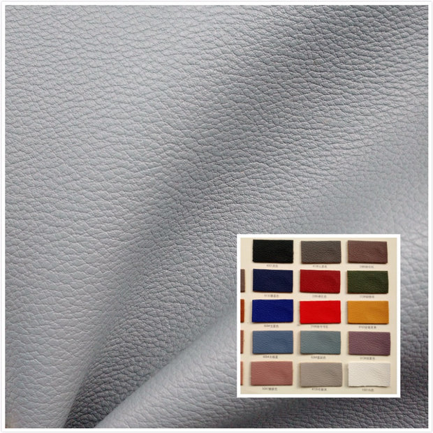 NEW! Meticulous Lychee Skin Texture Faux Leather Fabric S PU Synthetic Leather 50 Color Textile Fabric For Bag Belt Backpack