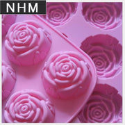 NHM 1 Piece Silicone Mold 6 With Oval Korean Rose Cake Pudding Model