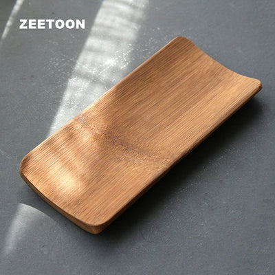 Natural Old Bamboo Handmade Coffee Tools Tea Scoop Vintage Chinese Kung Fu Tea Set Chahe Cha Tea Towel Holder Ze Mat Pad Coaster