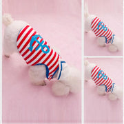 Navy Style Striped Vest Sailor With A Triangular Scarf Pet Clothes T-shirts For Dogs Clothing Pets Summer Clothes Cachorro XT