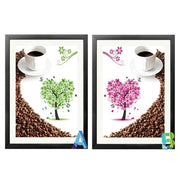 Needlework Diamond Embroidery Coffee Diamond Mosaic Painting Pictures Patterns Beads Icon Cross Stitch Puzzle Picture
