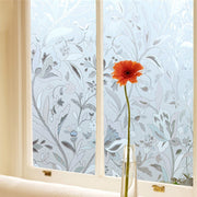 New 1X 45*100CM PVC Proof Cling Frosted Stained Floral Glass Window Film Sticker