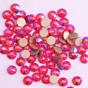 New 2088 Cut Siam AB Non Hotfix 16 Facets 8+8 Nail Art Rhinestones Golden Base For Luxury Decors The Best Quality