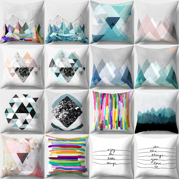 New Arrival 45*45cm Simple Pillowcase Pillows Case Cover Pillow Art Stripe Landscape Black White Pink Bedroom Home Decorative