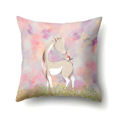 New Arrival 45*45cm Square Printed Cotton Pillow Cover Elk Pillow Case Merry Christmas Western Gifts For Pillowcases