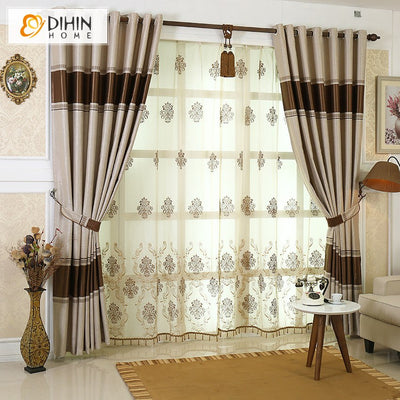 New Arrival Garden Tree Half Blackout Shading Blinds Cloth Curtains For Living Room Free Shipping