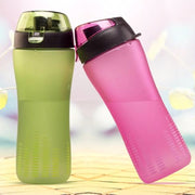 New Arrival High Quality 450ml Frosted Leakproof Student Plastic Sports Travel Space Drink Water Bottle For Boys And Girls