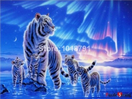 New Crafts Needlework Tiger Diy Diamond Painting Kit 3d Diamond Pasted Full Rhinestone Cross Stitch Diamond Embroidery