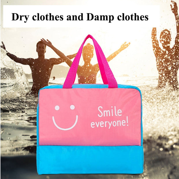 New Fashion Travel Large Capacity Beach Bags Dry And Wet Separated Men Women Waterproof Handbag Storage Bag Organizer DropShip