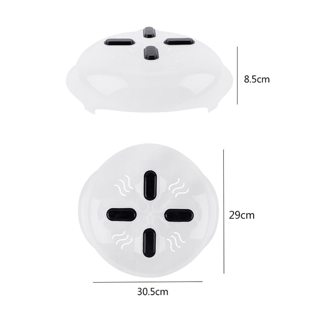 New Food Splatter Guard Microwave Hover Anti-Sputtering Cover Oven Oil Cap Heated Sealed Plastic Cover Dish Dishes Food Cover