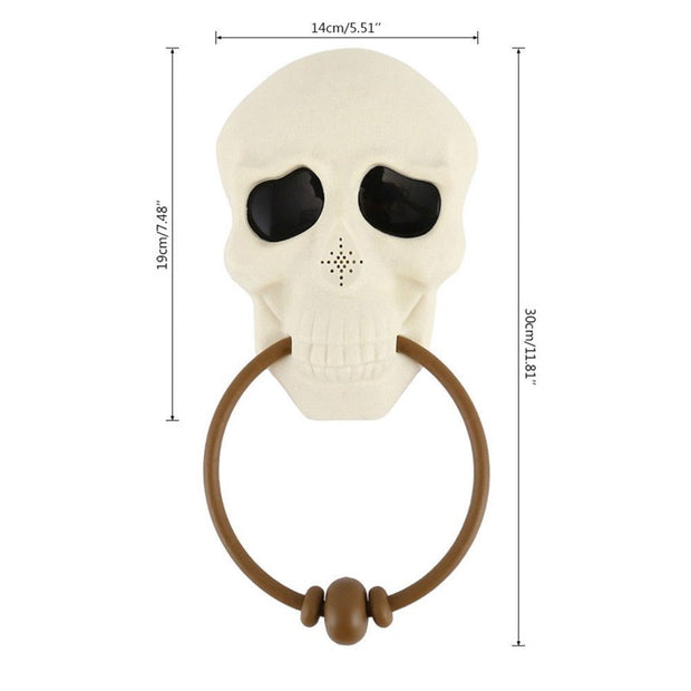 New Halloween Horror Props Doorbell Halloween Decorations For Home Haunted House Party Supplies Glitter Creepy Skull Head